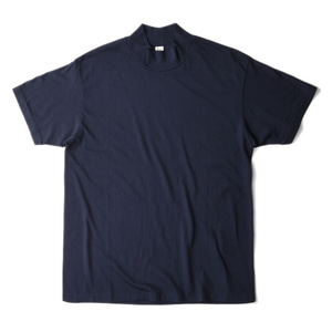 "KAPTAIN SUNSHINE Mockneck Half Sleeved Tee ""Navy"""