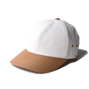 "KIIT x MSACA Hat Collabolation Cap Eco Leather Nylon ""White&Beige"""