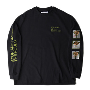 "CHILDREN OF THE DISCORDANCE Sastr Rose Embroidery L/S Shirts ""Black"""