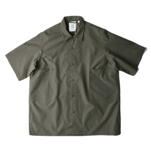 "BROWNYARD Convertible Collar Shirts 02 ""Olive"""