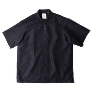 "BROWNYARD Convertible Collar Shirts 02 ""Navy"""