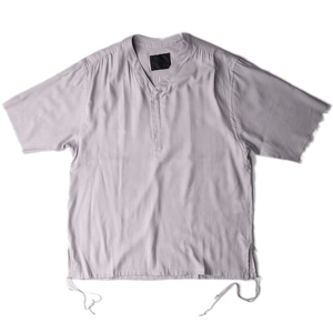 "BUKHT Y-Neck Shirts ""Gray"""