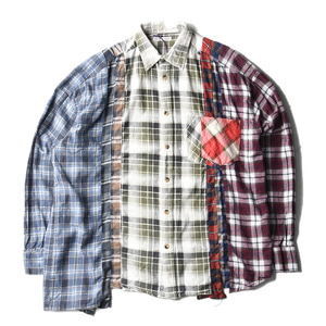 "NEEDLES Rebuild by Needles Flannel Wide 7 Cuts  Shirts ""B"""