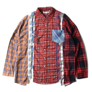 "NEEDLES Rebuild by Needles Flannel 7 Cuts  Shirts ""L-2"""