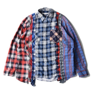"NEEDLES Rebuild by Needles Flannel 7 Cuts  Shirts ""L-6"""