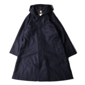 "KAPTAIN SUNSHINE Fooded Coat ""Navy"""