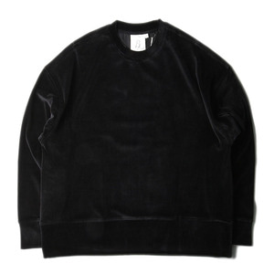 "(RE STOCK ) BROWNYARD Wide Velour Pullover ""Black"""
