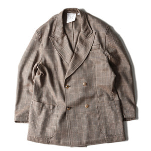 "BROWNYARD Double Breasted Jacket ""Brown Check"""