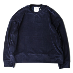 "BROWNYARD Wide Velour Pullover ""Navy"""
