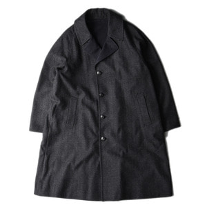 "KAPTAIN SUNSHINE Reversible Chesterfield Coat""Grey Herringbone x Melange Navy"""