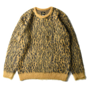 "NEEDLES Mohair Sweater Leopard ""Gold"""