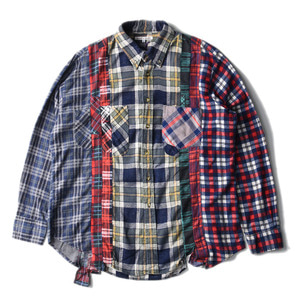 "NEEDLES Rebuild by Needles Flannel 7 Cuts  Shirts ""L-4"""