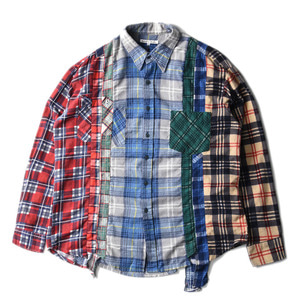 "NEEDLES Rebuild by Needles Flannel 7 Cuts  Shirts ""L-11"""
