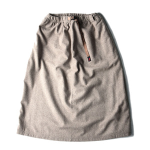 "Gramicci Wool Blend Long Flare Skirt ""Taupe"""