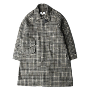 "EASTLOGUE Balmacaan Coat ""Beige & Black Check"""