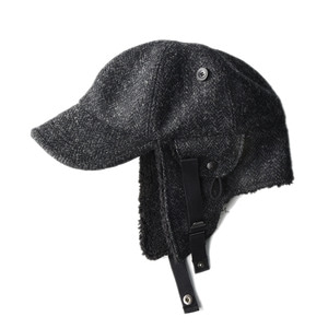 "EASTLOGUE Bomber Hat ""Bk & Charcoal HB"""