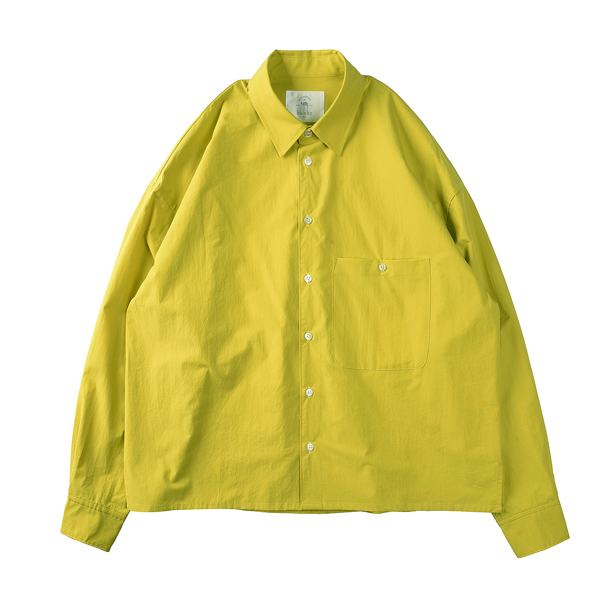 "BUKHT Paper Touch Fab Loose Shirts ""Lime"""