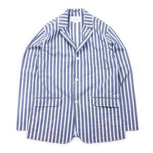 "Still by Hand Shirt Jacket ""Blue Stripe"""