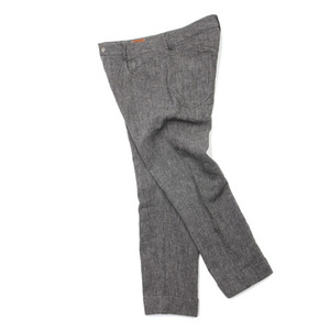 "Ooparts Linen Ankle Pants ""Charcoal"""
