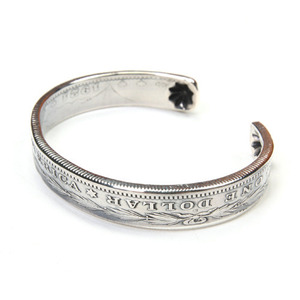 North Works Morgan Dollar End Shell Bangle