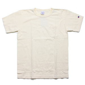 "Champion Made In USA Pocket T-Shirts ""Cream"""