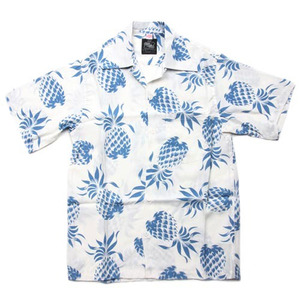 "Kona Bay Hawaii Pineapple Hawaiian Shirts ""Lt.Blue"""
