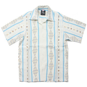"Kona Bay Hawaii Geometric Hawaiian Shirts ""White"""