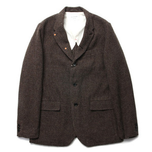 "Still by Hand Wool Jacket ""Moca"""