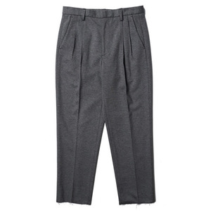 "Ooparts Two-Tuck Bonded Trousers ""Grey"""