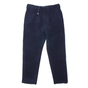 "ID DAILYWEAR Double Face Cut Off Slacks ""Navy"""