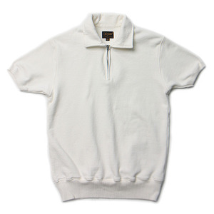 "National Athletic Goods 1/4 Zip Campus 11oz. Piece Dyed Terry ""Aged White"""
