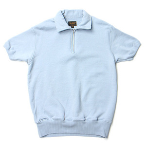 "National Athletic Goods 1/4 Zip Campus 11oz. Piece Dyed Terry ""Washed Blue"""
