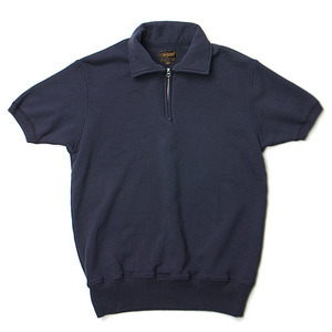 "National Athletic Goods 1/4 Zip Campus 11oz. Piece Dyed Terry ""Navy"""