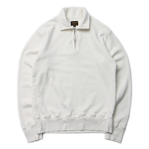 "National Athletic Goods 1/4 Zip Campus 11oz. Mock Twist Fleece ""Aged White"""