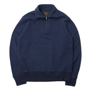 "National Athletic Goods 1/4 Zip Campus 11oz. Mock Twist Fleece ""Indigo"""