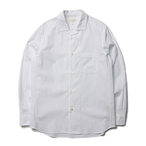 "Still by Hand Open Collar Shirt ""White"""