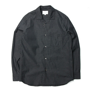 "Still by Hand Open Collar Shirt ""Charcoal"""