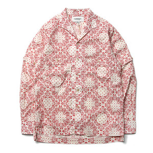 "East Louge Transform Work Half Shirt ""Red Jacquard"""