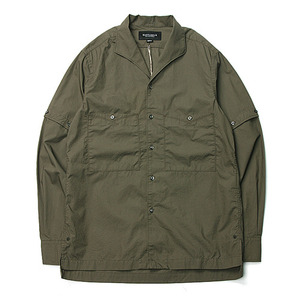 "East Louge Transform Work Half Shirt ""Olive"""