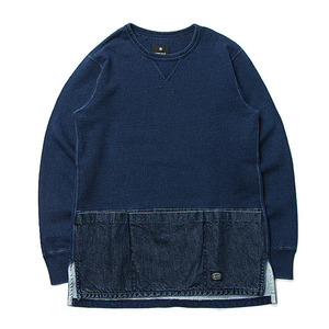 "Snow Peak Camping Indigo Sweat ""Indigo"""