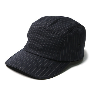 "Unaffected Camp Cap ""Navy Pin Stripe"""