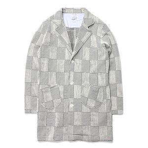 "RIDING HIGH Jacquard Patchwork Coat ""White"""