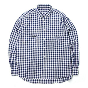 "NEITHERS 2-Pocket Wide Shirt ""Navy"""