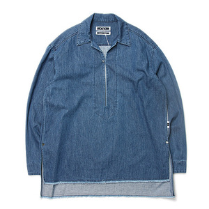 "KIIT 6oz Cotton Denim Pullover Open Collar Shirts ""Indigo Bio"""