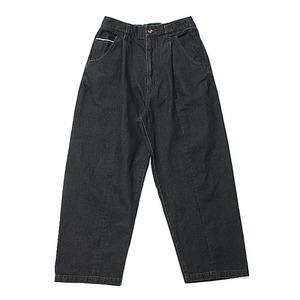 "KIIT 10oz Denim Wide Trousers ""Black Bio"""