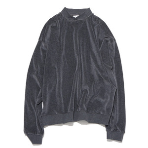 "GAKURO Double Neck Sweatshirt - Velour ""Grey"""