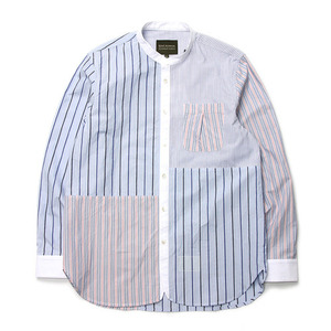 "Qlad Museum Mixed Block Stripe Shirt ""Mixed Stripe"""