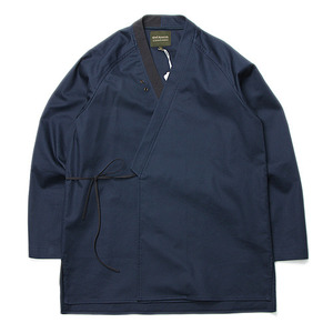 "Qlad Museum Inno Mixed Jinbei Cardigan ""Navy"""