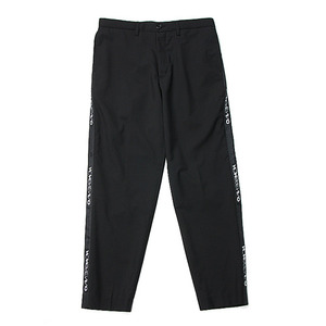 "Hombre Niño Side Tape Pants ""Black"""